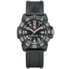 LUMINOX 雷明時 海豹部隊指標系列手錶-黑x白時標/38mm A7051