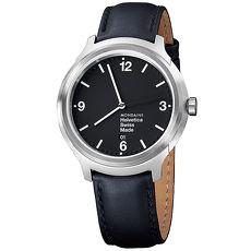 MONDAINE 瑞士國鐵Helvetica 聯名腕錶 - 黑/43mm