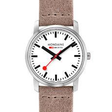 MONDAINE 瑞士國鐵 超薄系列腕錶-36mm/駝色 40016BG