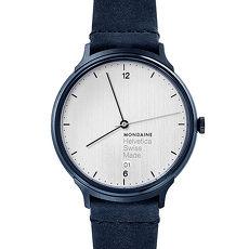 MONDAINE 瑞士國鐵Helvetica Light暗夜藍腕錶/38mm 1L2210LD