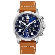 LUMINOX 雷明時ATACAMA戰場系列藍寶鏡面三眼鬧鈴腕錶-藍x白時標/45mm A1944