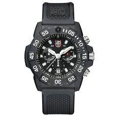 LUMINOX 雷明時NAVY SEAL CHRONO 3580海豹三眼計時腕錶 – 消光黑x白時標/45mm A3581