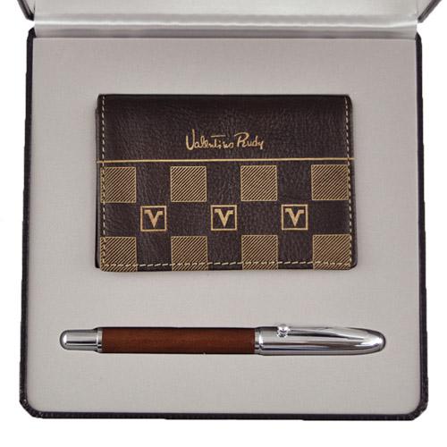 Valentino Rudy 范倫鐵諾 鋼珠筆名片夾禮盒 SC211