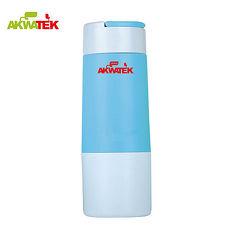 【AKWATEK】悠尚隨身玻璃杯AK-G143+時尚玻璃杯300ml超值四入 AK-02016 布套