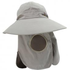 OMAX多功能透氣遮陽帽-女性專用紫色