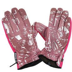omax多款式防寒防滑珠光手套-女紫色