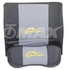 omax一對寶護腰靠墊頭枕組合灰色