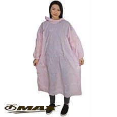 OMAX格紋粉彩輕便雨衣-6入(顏色隨機)