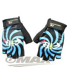 omax風火輪萊卡半指手套-藍色L