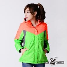 【遊遍天下】Globetex女款JIS90%羽絨防水透濕時尚撞色羽絨外套A060桔/綠