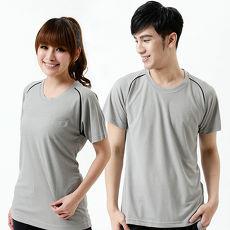 【遊遍天下】台灣製中性款涼感圓領吸濕排汗機能衫S0707灰色2L