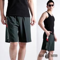 【遊遍天下】MIT台灣製男款超涼爽吸濕排汗運動短褲P123A灰色