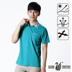 【遊遍天下】男款抗UV吸濕排汗機能POLO衫GS10012孔雀綠