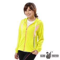 【遊遍天下】女版吸濕排汗透氣抗UV連帽外套GJ10007黃色