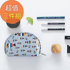 【韓版】可愛繽紛防潑水輕便貝殼化妝包(4色)(二入組)