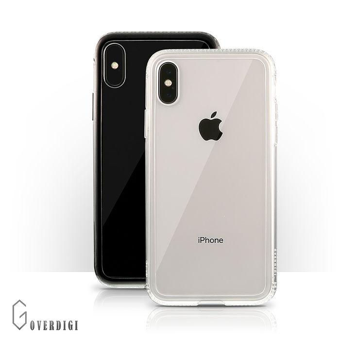 OVERDIGI iPhone XR 雙料防撞抗刮保護殼-透明