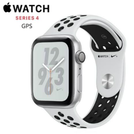 【直降$1000】Apple Watch Nike+ Series 4 44mm GPS 版 銀色鋁金屬錶殼配黑色 Nike 運動錶帶 (MU6K2TA/A)