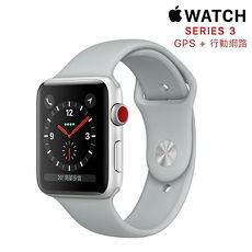 【直降】Apple Watch Series 3 GPS+行動網路 LTE 版 42mm銀色鋁金屬錶殼配霧灰色運動錶帶