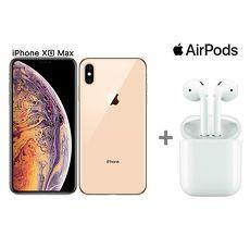 【Airpods超值組】Apple iPhone XS Max 256G (金) + AirPods 無線藍牙耳機