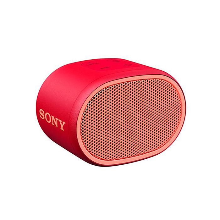 【SONY索尼】可攜式防水藍芽喇叭SRS-XB01 (紅色) 19光棍