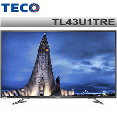 TECO東元 43吋 真4K Smart液晶顯示器+視訊盒TL43U1TRE*送韓國舒適毯