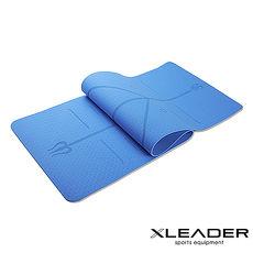 Leader X 環保TPE雙面防滑體位線瑜珈墊6mm (3色任選)