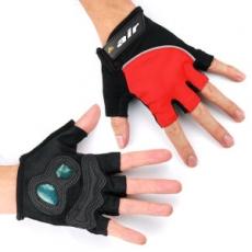 DR. AIR 氣墊避震半指手套-紅色L
