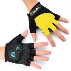 DR. AIR 氣墊避震半指手套-黃色M