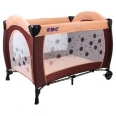 EMC 嬰幼兒安全遊戲床(幸運咖啡) + 雙層架+尿布台