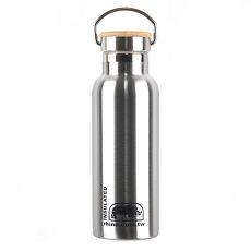 犀牛RHINO Vacuum Bottle雙層不鏽鋼保溫水壺(竹片蓋)500ml-原色