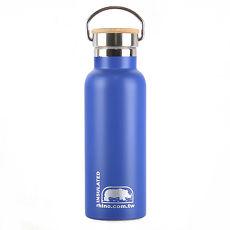 犀牛RHINO Vacuum Bottle雙層不鏽鋼保溫水壺(竹片蓋)500ml-莓藍