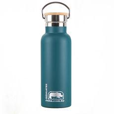 犀牛RHINO Vacuum Bottle雙層不鏽鋼保溫水壺(竹片蓋)500ml-清綠