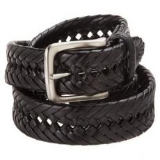 Tommy Hilfiger 2012男時尚編織黑色皮帶★預購34