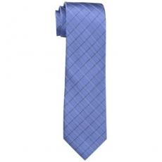 【Calvin Klein】2015男時尚Etched板藍色窗玻璃圖案真絲領帶★預購
