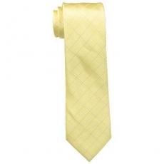 【Calvin Klein】2015男時尚Etched黃色窗玻璃圖案真絲領帶★預購