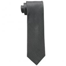 【Calvin Klein】2015男時尚Steel Micro B黑色格圖紋真絲領帶★預購