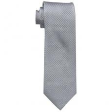 【Calvin Klein】2015男時尚Steel Micro銀色菱形圖案真絲領帶★預購