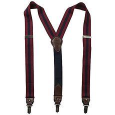 Tommy Hilfiger 2015男時尚彈性寶藍蔓越莓色吊帶褲夾★預購