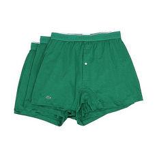【Lacoste】2015男時尚寬鬆鈕扣綠色平角內著3件組★預購