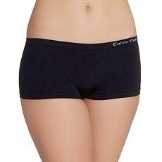 【CK】2015女超細纖維無縫黑色平角內著3件組★預購M