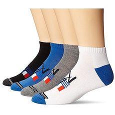 NAUTICA 2016男旗標Core黑藍灰白低切運動短襪混搭4件組【預購】