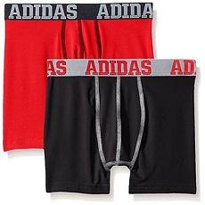 【Adidas】2016男孩學生彈力黑紅四角內著混搭2件組★預購