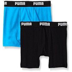 PUMA 2016男孩學生柔軟黑亮藍四角內著混搭2件組★預購L(身高139-155cm)