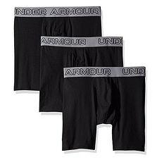 Under Armour 2017男時尚彈力黑色四角修飾內著3件組★預購
