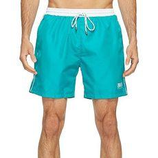 【HUGO BOSS】2017男時尚色彩對比綠松色快乾游泳褲★預購L
