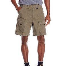 【Wrangler】2017男藍哥休閒旅行地綠色後腰鬆緊多袋短褲★預購