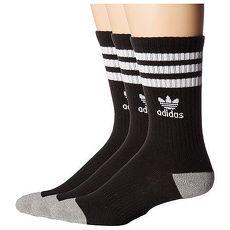 【Adidas】2018學生時尚黑色條紋中筒運動襪3入組★預購