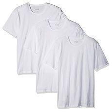 【HUGO BOSS】2017男時尚純棉白色圓領短袖內衣3件組★預購XL