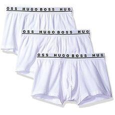 【HUGO BOSS】2017男時尚彈力白色四角內著3件組★預購L