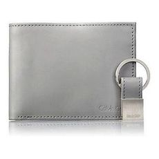 【Calvin Klein】2018男時尚RFID灰色雙折皮夾組★預購